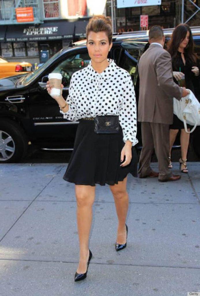 Kourtney Kardashian wearing a fanny pack 28